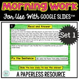 Paperless Morning Work or Literacy Center for use with GOO