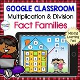 Google Classroom Math  MULTIPLICATION FACT FAMILY Google Classroom Activities