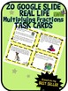 Google Drive Multiplying Fractions Task Cards - Based on m