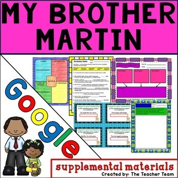 My Brother Martin Journeys 4th Grade Unit 1 Lesson 2 Google Drive Resource
