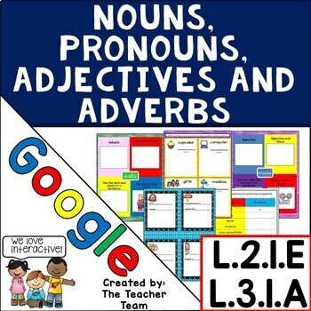 Nouns, Pronouns, Adjectives, Adverbs Practice ~ Google Drive L.3.1.A and L.2.1.E