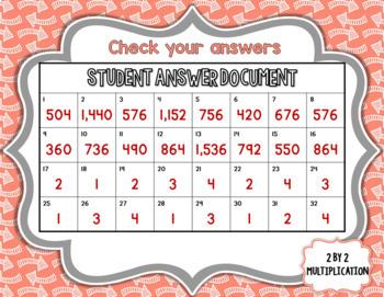 Digital Task Cards Google Paperless Fourth Grade Math Multiplication Test Prep