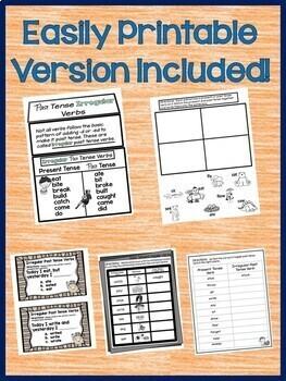 Past Tense Irregular Verbs 2nd Grade Interactive Notebook for Google Drive