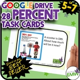 Google Drive Percent Task Cards Based on my Best Seller