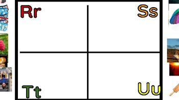 Google Drive Picture to Letter Sorting Manipulative Online A to Z