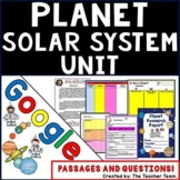 Planets & Solar System Unit  Google Activities with Passages and Questions