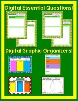 Plants Unit Interactive Notebook Google Drive Activities with Close Reading
