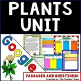 Plants Unit Interactive Notebook Google Activities with Passages and Questions