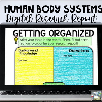 Human Body Systems Research Report for Google Drive & Printable