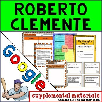 Roberto Clemente Journeys 3rd Grade Unit 1 Lesson 5 Google Digital Resource