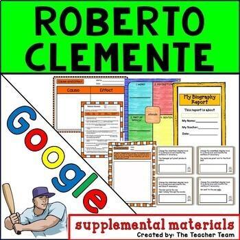 Roberto Clemente Journeys 3rd Grade Unit 1 Lesson 5 Google Drive Resource