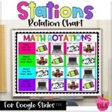 Google Drive Rotation Chart for Math Stations or ELA Stations