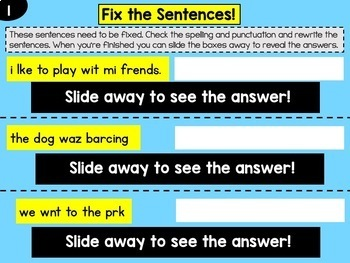 Google Drive Sentence Editing Fix Ups
