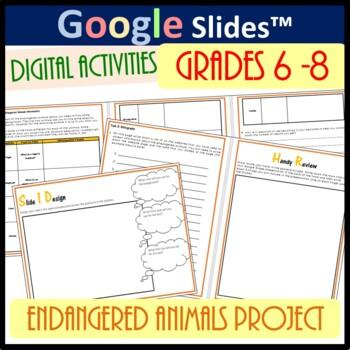 Google Drive Slides Work Book - Endangered Animals Project
