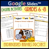 Endangered Animals Project Work Book - for Google Slides™