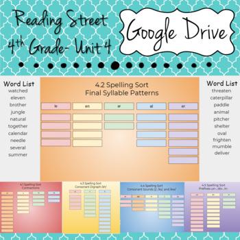 Google Drive Spelling Sort-Unit 4