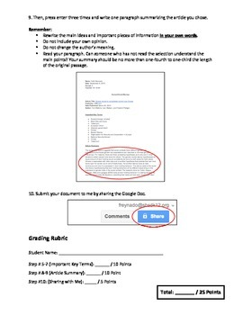 Google Drive Docs Student Intro/Assignment #2