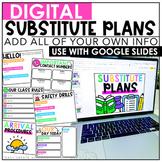 Google Drive Sub Plans {Editable}
