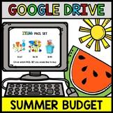 Google Drive Summer Budget - Special Education - Shopping - Life Skills - Money