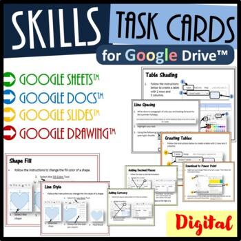 Google Drive Task Cards Bundle - Save $2.50