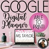 Digital Teacher Planner (Google Drive) Editable for Any Year!