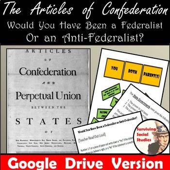 Google Drive - Articles of Confederation - Federalist vs  Anti-Federalist  Survey