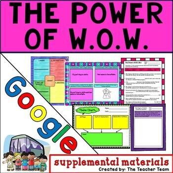 The Power of W.O.W Journeys 4th Grade Unit 1 Lesson 4 Google Digital Resource