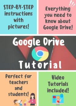 Google Drive Tutorial for Teachers & Students, VIDEO TUTORIALS INCLUDED!