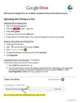 Google Drive – Uploading and Linking to a File