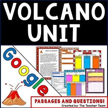 Volcano Unit Interactive Notebook Google Drive Activities