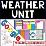 Weather Unit Interactive Notebook Google Activities for Passages and Questions
