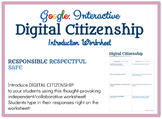 Worksheet: Introduction to Digital Citizenship (DIGITAL us
