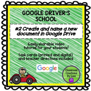 GOOGLE DRIVER'S SCHOOL #2 Creating and naming a new document in Google Drive