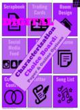 Google: EDITABLE Characterization Choice Board Activities-