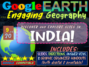 Google Earth: Engaging Geography assignment - INDIA