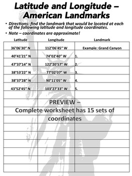 Latitude and Longitude Worksheet & Answer Key by Super Teacher Stuff
