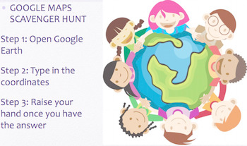 Google Earth, Maps & Coordinates Lesson
