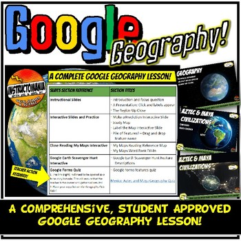 Google Earth Mexico Physical Geography Lesson Set, Exploration & Scavenger Hunt