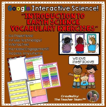 Google Drive Intro to Earth Science Interactive Notebook for Google Classroom