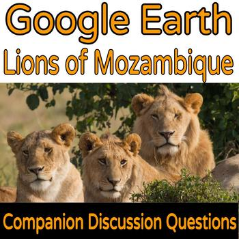 Google Earth Science Lesson Lions in Mozambique