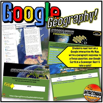 Google Earth South America Geography Lesson Set, Exploration & Scavenger Hunt