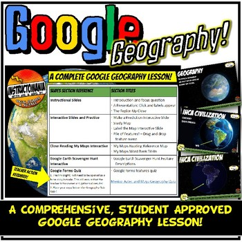 Google Earth South America Geography Lesson Set, Exploration & Scavenger Hunt