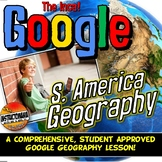 Google Classroom South America Geography Lesson Set, Exploration & Map Activity
