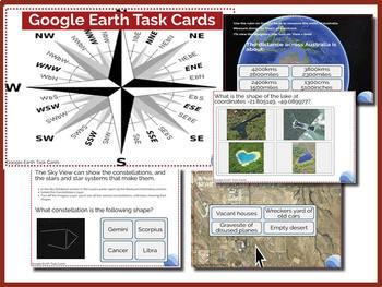 Google Earth Task Cards **Boom Cards**