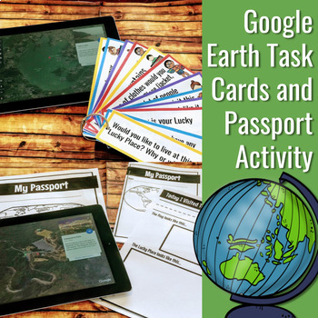 Google Earth Task Cards and Passport Activity