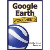 Google Earth Worksheets ****100% ORIGINAL IDEAS****