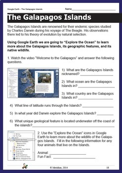 Google Earth Worksheets **INTERACTIVE**