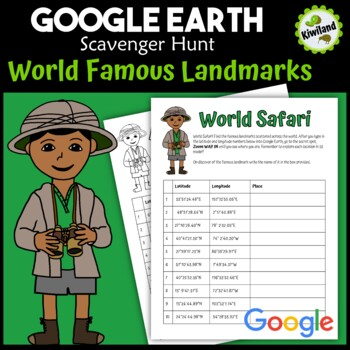 Google Earth World Famous Landmarks Scavenger Hunt 1 (Latitude and Longitude)