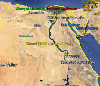 Google Earth tour of Ancient Egypt and Landmarks with Worksheet