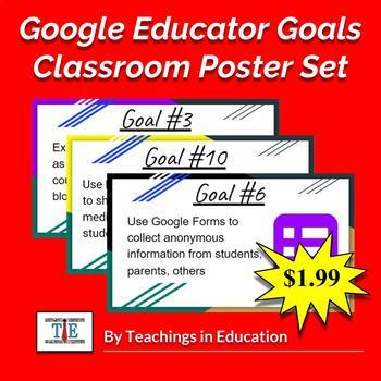 Google Educator Goals (Poster Set)